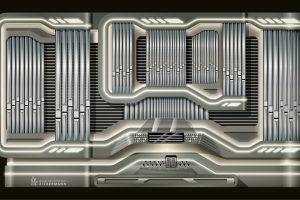futuristisches Prospektdesign